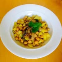 Rezept für Zucchini Kartoffel Kichererbsen Pfanne