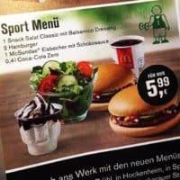 McDonalds Sportmenü