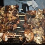 Vegetarische Weihnachten mit gegrillten Pilzen