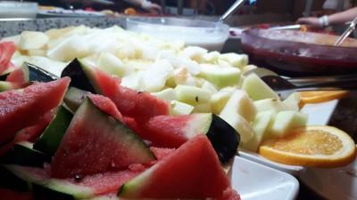 Urlaub nicht zunehmen - Buffet Nachtisch