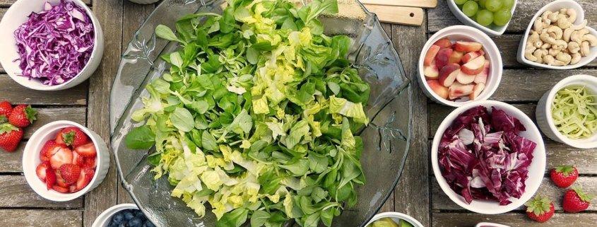 Salat beim Lieferdienst